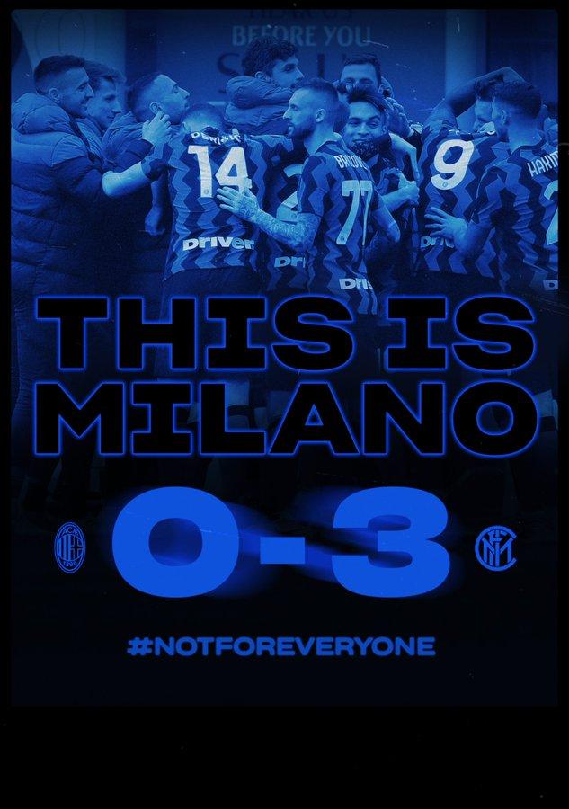 Il derby è dell'Inter: 3-0 contro il Milan