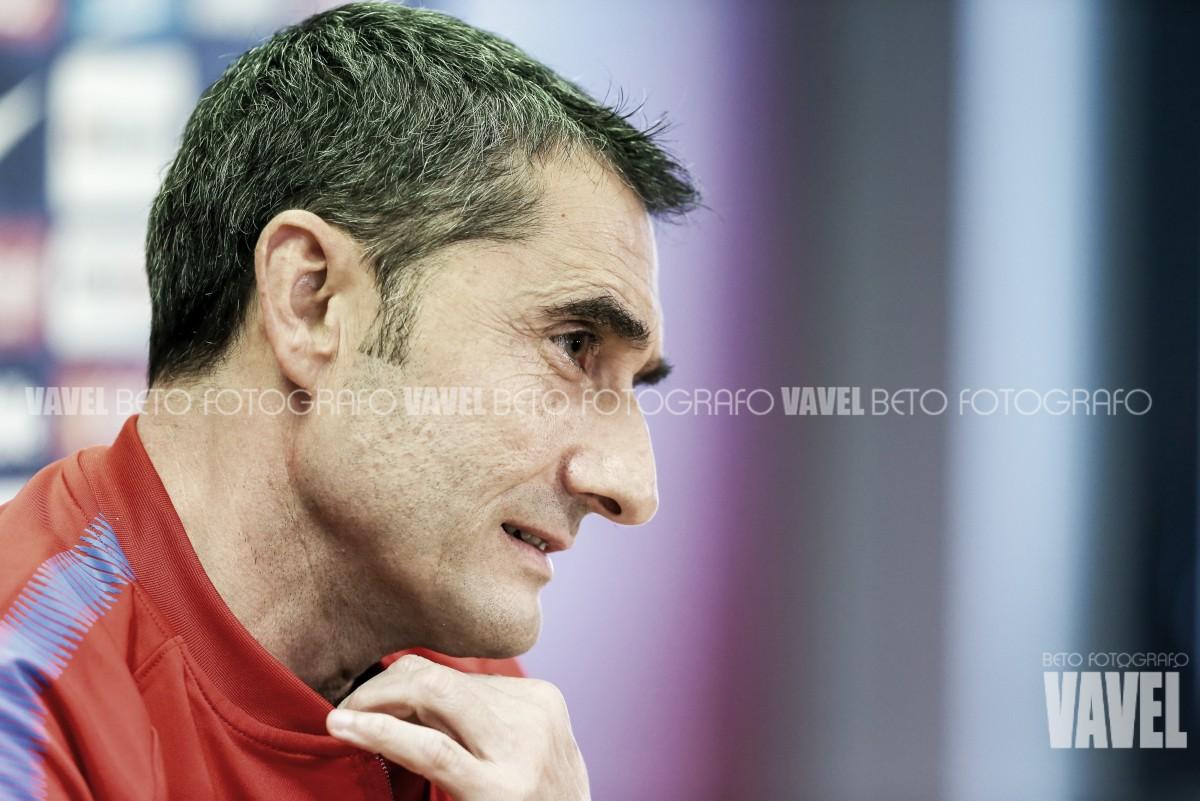 """Ernesto Valverde: """"Es una semana intensa y todavía no hemos ganado nada"""""""