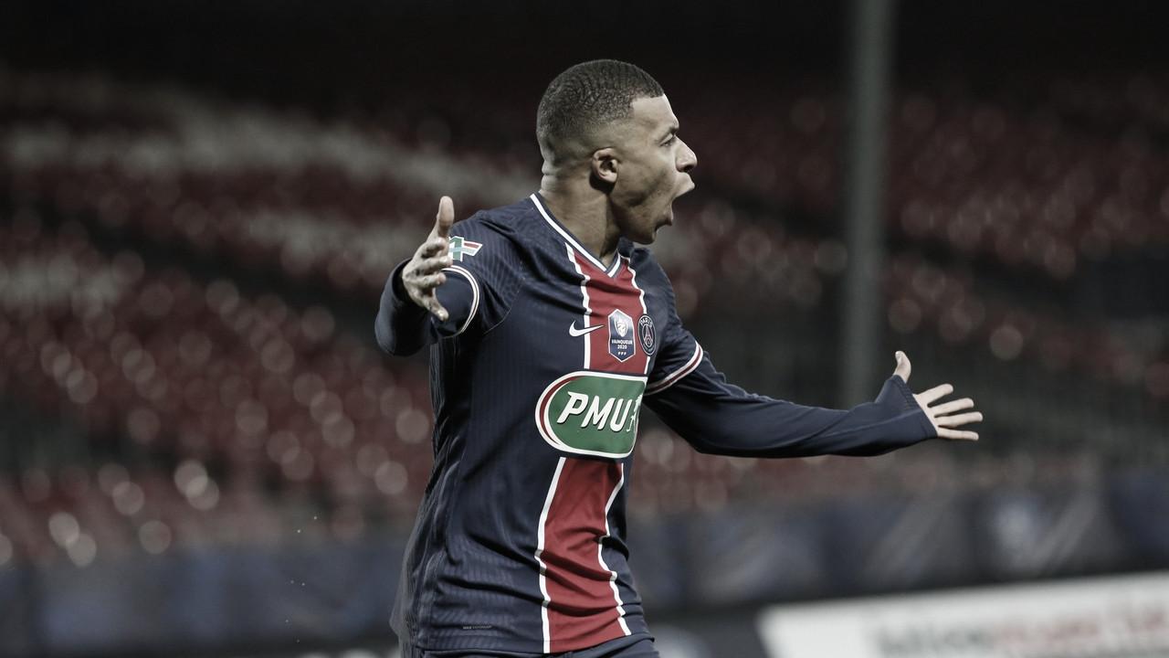 Mbappé brilha, PSG vence Brest e avança à próxima fase na Copa da França