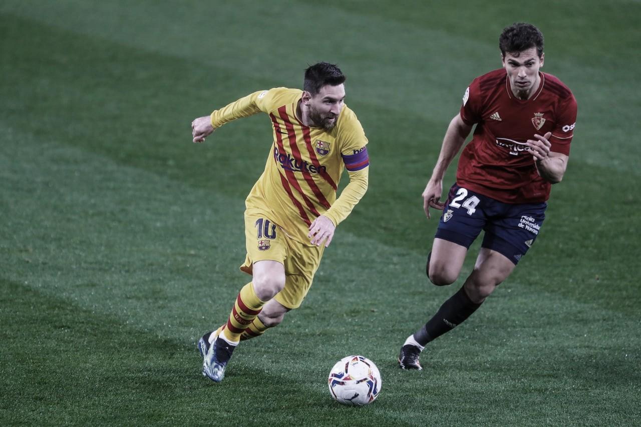 Barcelona vence Osasuna fora de casa com tranquilidade