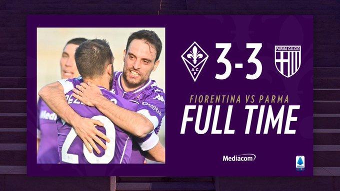 Paura di vincere: 3-3 tra Fiorentina e Parma