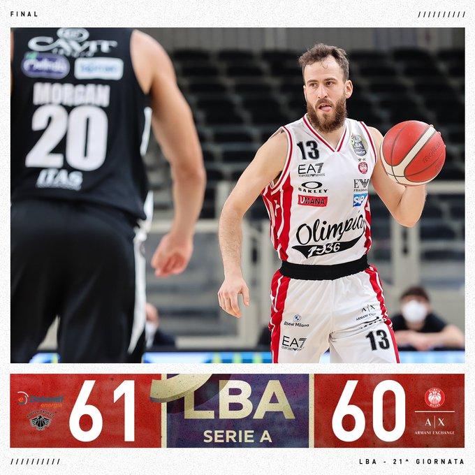 Trento compie un impresa: vittoria contro Milano per 61-60