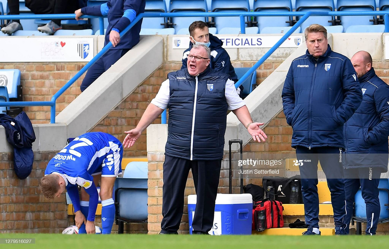Gillingham manager Steve Evans will be hoping his side can bounce back from their weekend defeat on Tuesday | Photo by Justin Setterfield - GettyImages