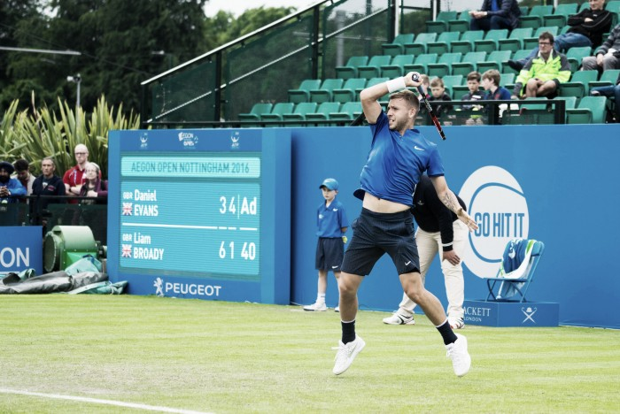 ATP Nottingham: Dan Evans saves three match points to defeat compatriot Liam Broady