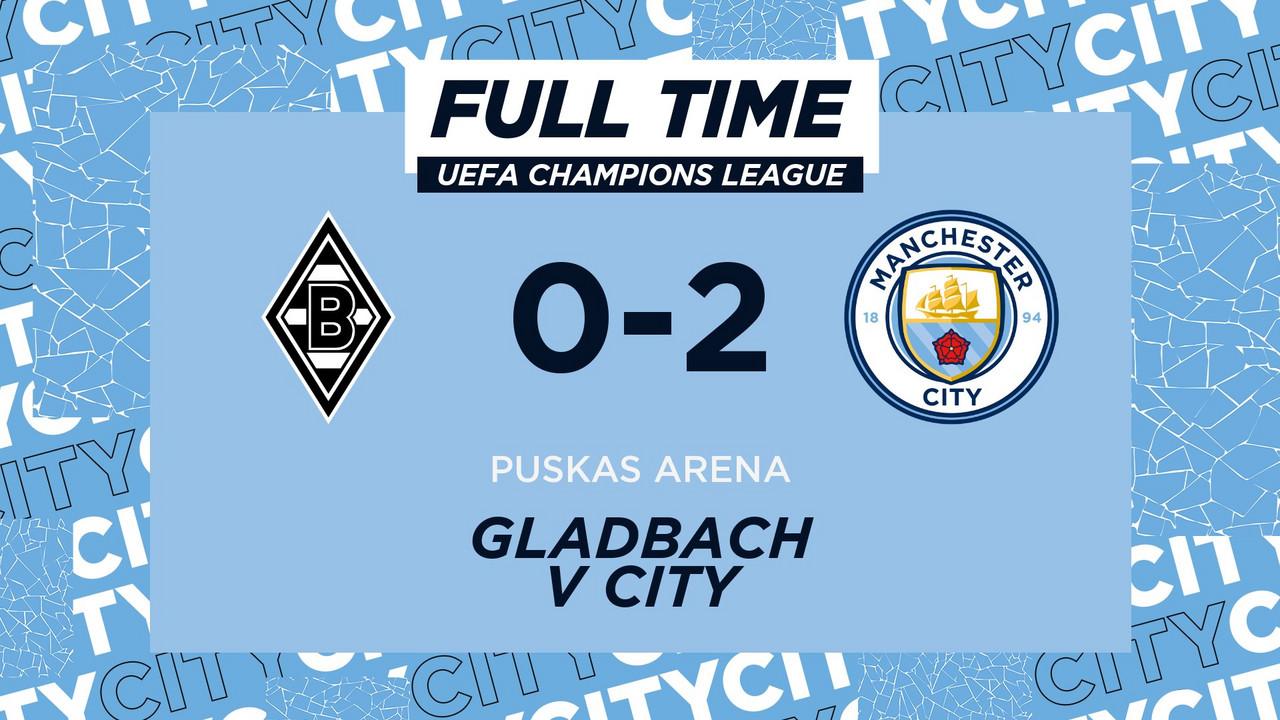 Il City si avvicina al passaggio del turno: 2-0 in Germania al Borussia Gladbach