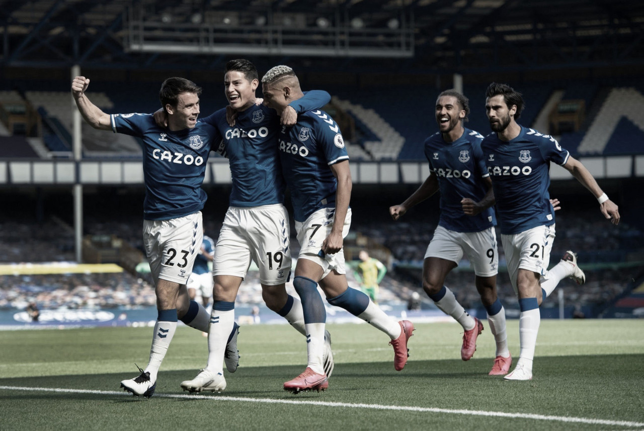Calvert-Lewin faz três e Everton goleia West Bromwich na Premier League