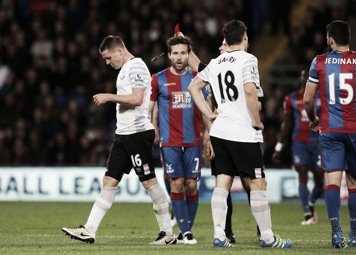 Crystal Palace 0-0 Everton: Toffees escape with point despite being reduced to 10 men