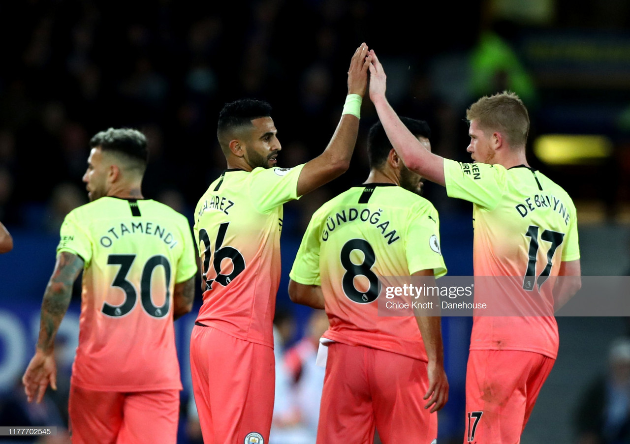 Everton 1-3 Manchester City: Citizens record crucial victory to remain in sight of Liverpool
