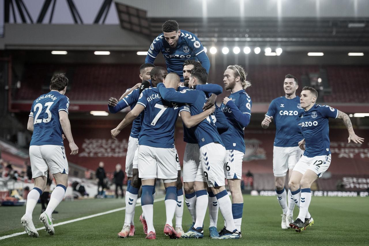 Depois de 22 anos de espera, Everton volta a vencer Liverpool em Anfield na Premier League