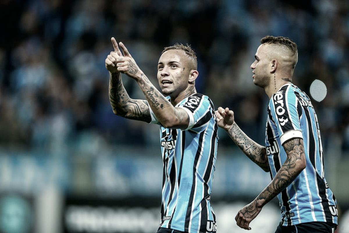 Everton marca duas vezes, Grêmio vira sobre São Paulo e alcança G-4 do Brasileirão