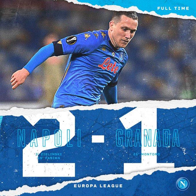 Il Napoli vince ma inutilmente: non basta il 2-1 al Granada