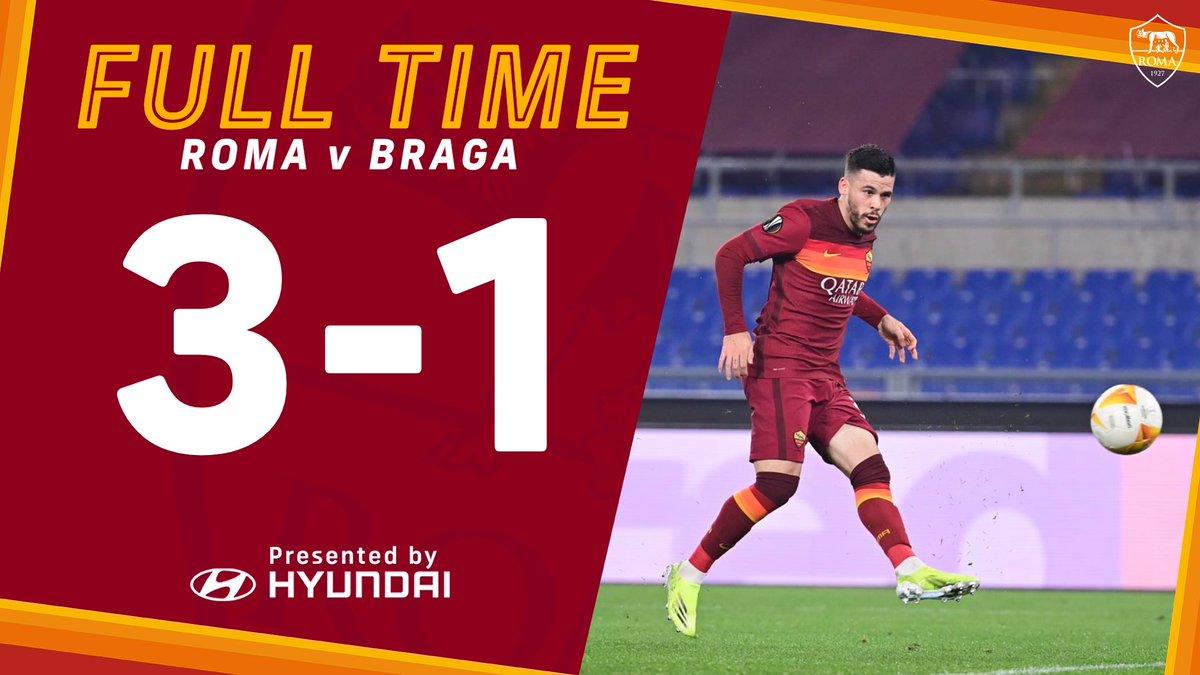 La Roma regola il Braga 3-1 e si regala gli ottavi