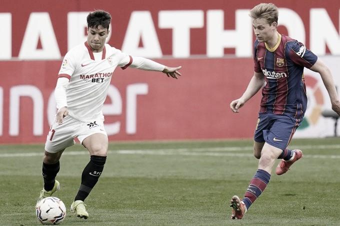 Sevilla FC - FC Barcelona; puntuaciones del Sevilla en la jornada 25 de LaLiga Santander
