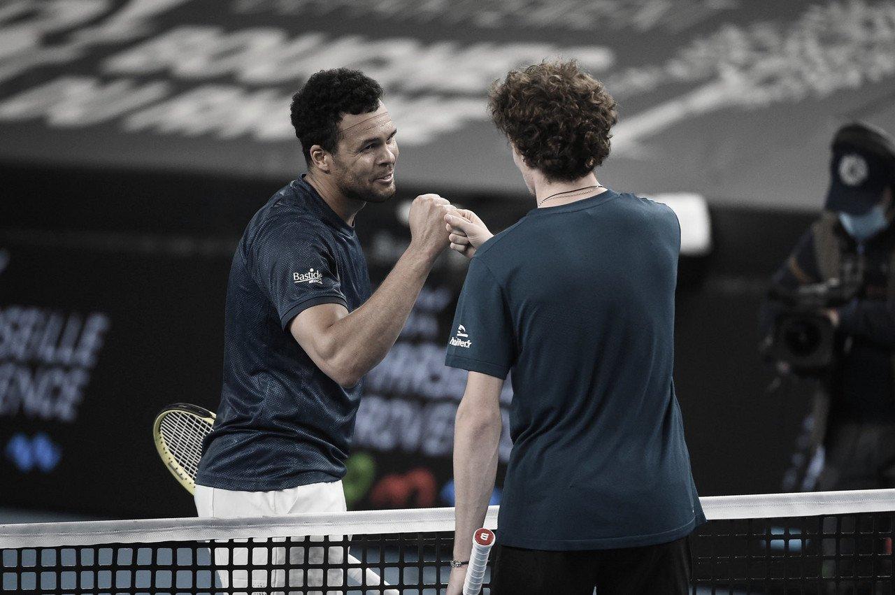 Humbert supera Tsonga em duelo francês no ATP de Marseille; Khachanov e Sinner confirmam favoritismo