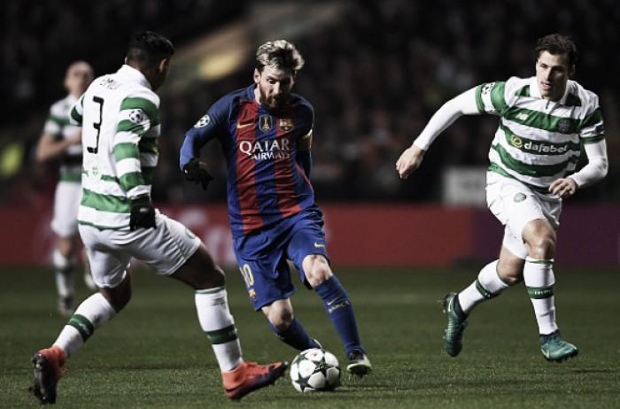 Em noite de Messi, Barça bate Celtic e avança às oitavas da Champions League