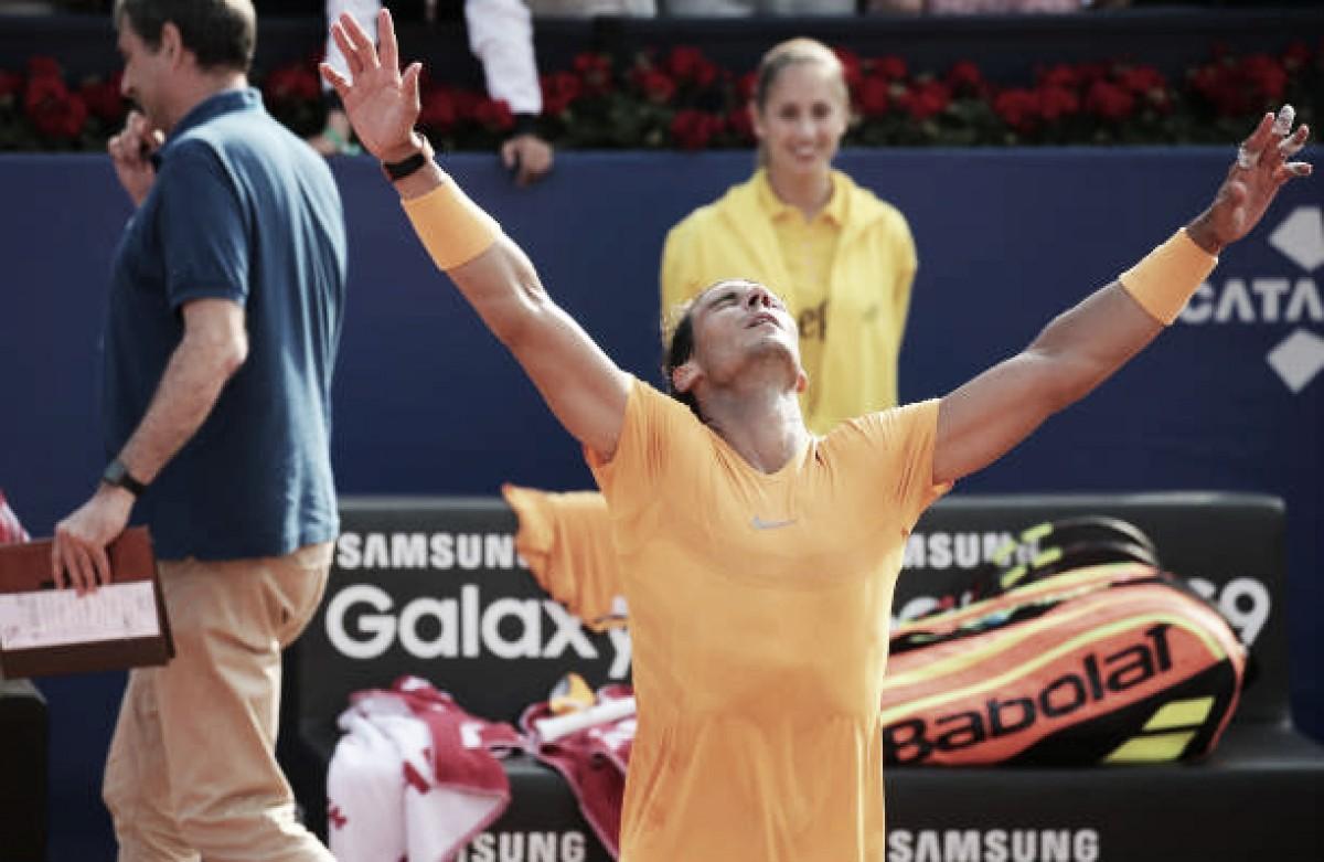 Com direito a pneu, Nadal bate Klizan e confirma vaga nas semifinais do ATP 500 de Barcelona