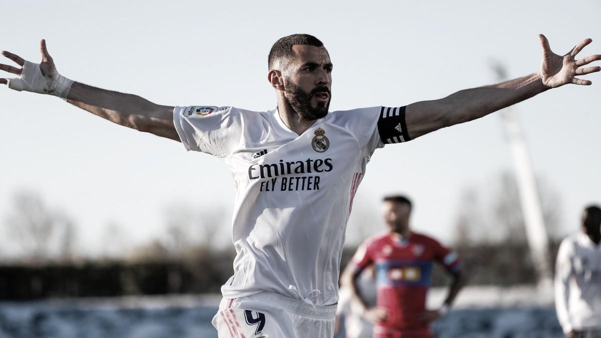 Em jogo movimentado no segundo tempo, Benzema garante vitória do Real Madrid sobre Elche no fim