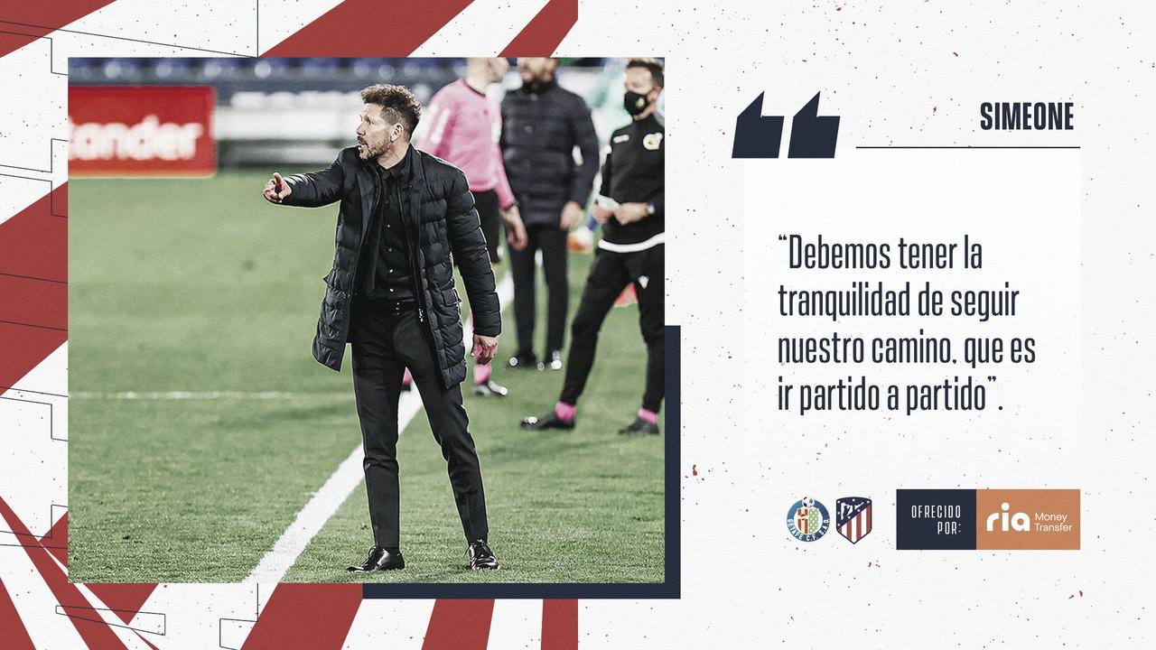 """Simeone: """"LaLiga es compleja para todos como se ve en todos los partidos"""""""