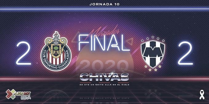Chivas viene de atrás para empatar con Rayados