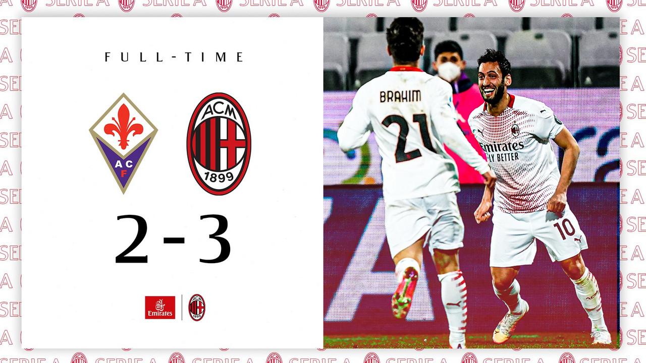 Il Milan si rialza: battuta la Fiorentina per 2-3