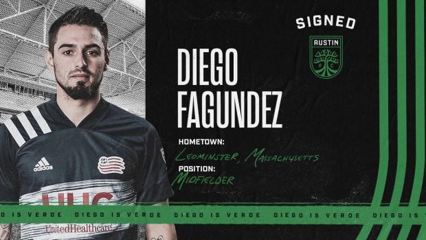 Austin FC incorpora a Diego Fagundez