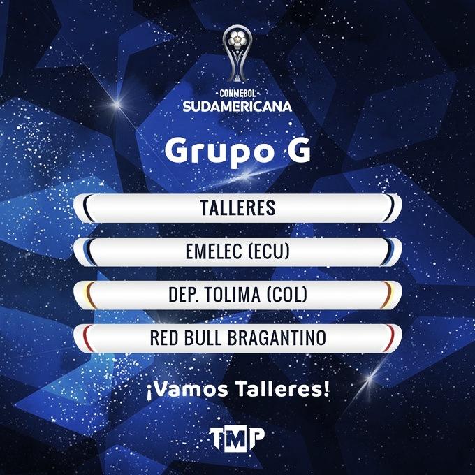 Sorteo de la Copa Sudamericana: Talleres ya conoce sus rivales