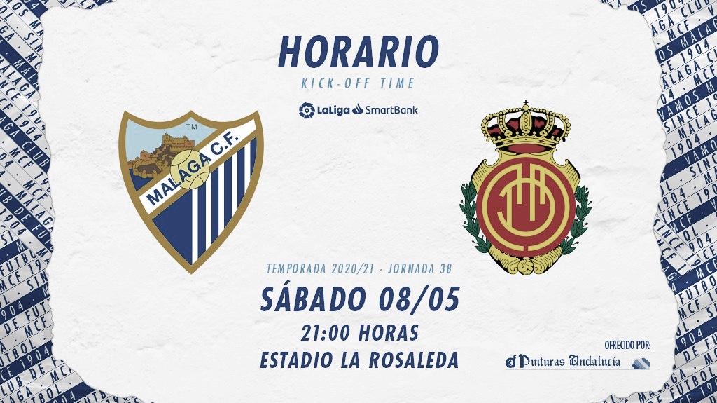El Málaga ya conoce el horario de la jornada 38