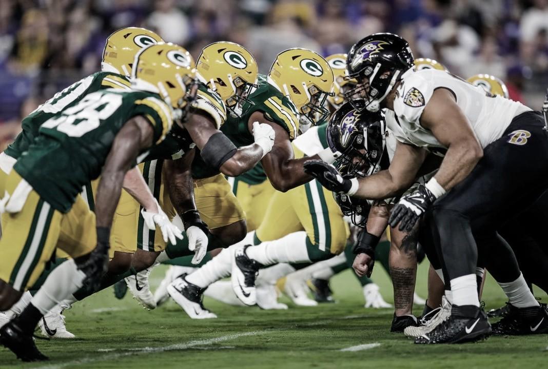 Los Ravens derrotan a los Packers en Baltimore