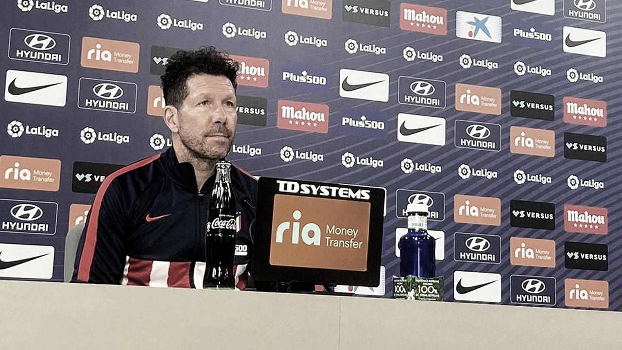 """Simeone: """"Llevamos toda la semana pensando en este encuentro"""""""