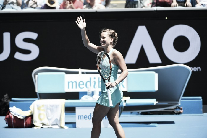 Australian Open: Barbora Strycova strides into the second week with straight sets win over Caroline Garcia
