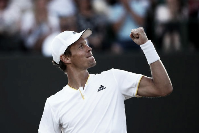 Wimbledon: Tomas Berdych battles past Dominic Thiem for quarterfinal place