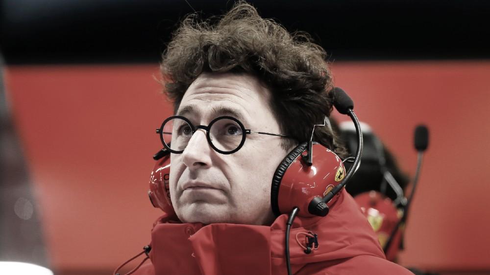 """Mau começo de pré-temporada da Ferrari faz Mattia Binotto admitir: """"Não somos tão rápidos"""""""