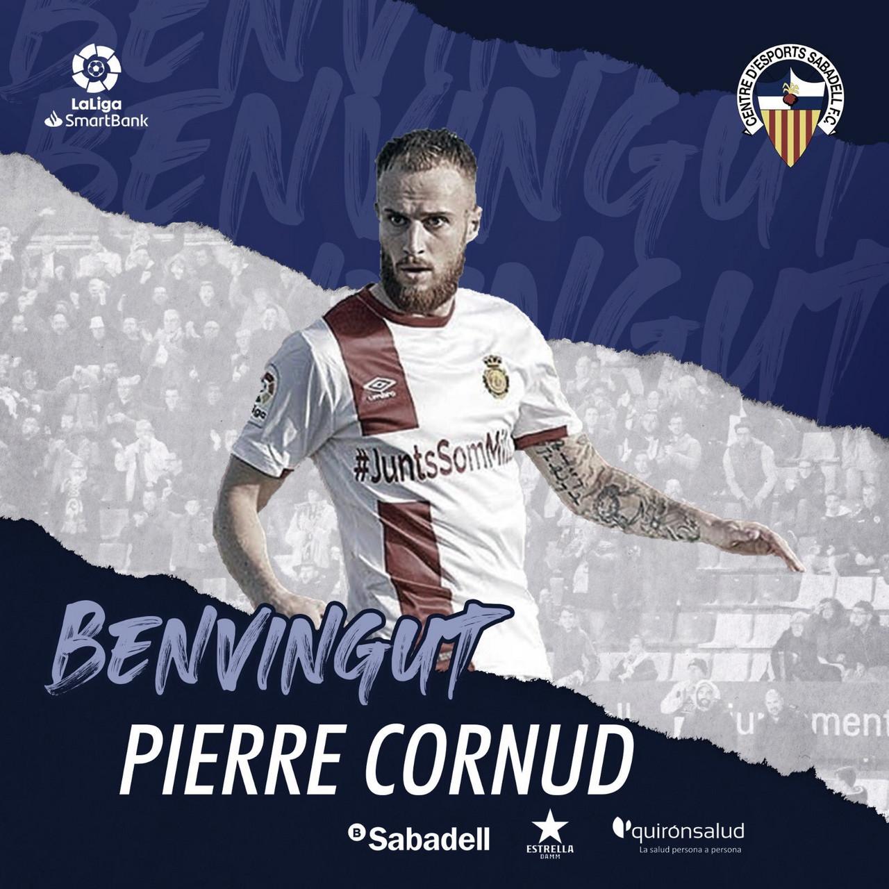 Pierre Cornud, nuevo jugador del CE Sabadell | Fuente: www.cesabadell.cat