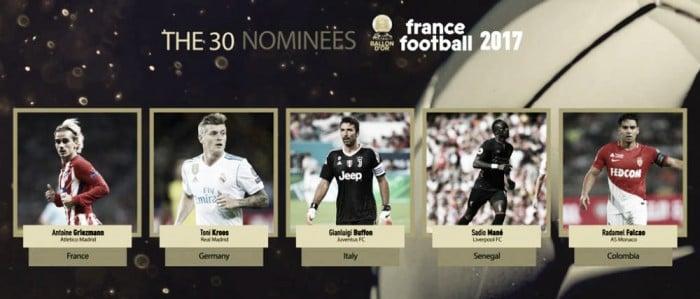 Pallone d'Oro, svelati altri cinque nomi: Buffon presente
