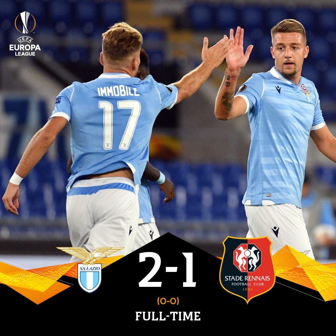Europa League- Milinkovic e Immobile rimontano il Rennes, la Lazio vince all'Olimpico (2-1)