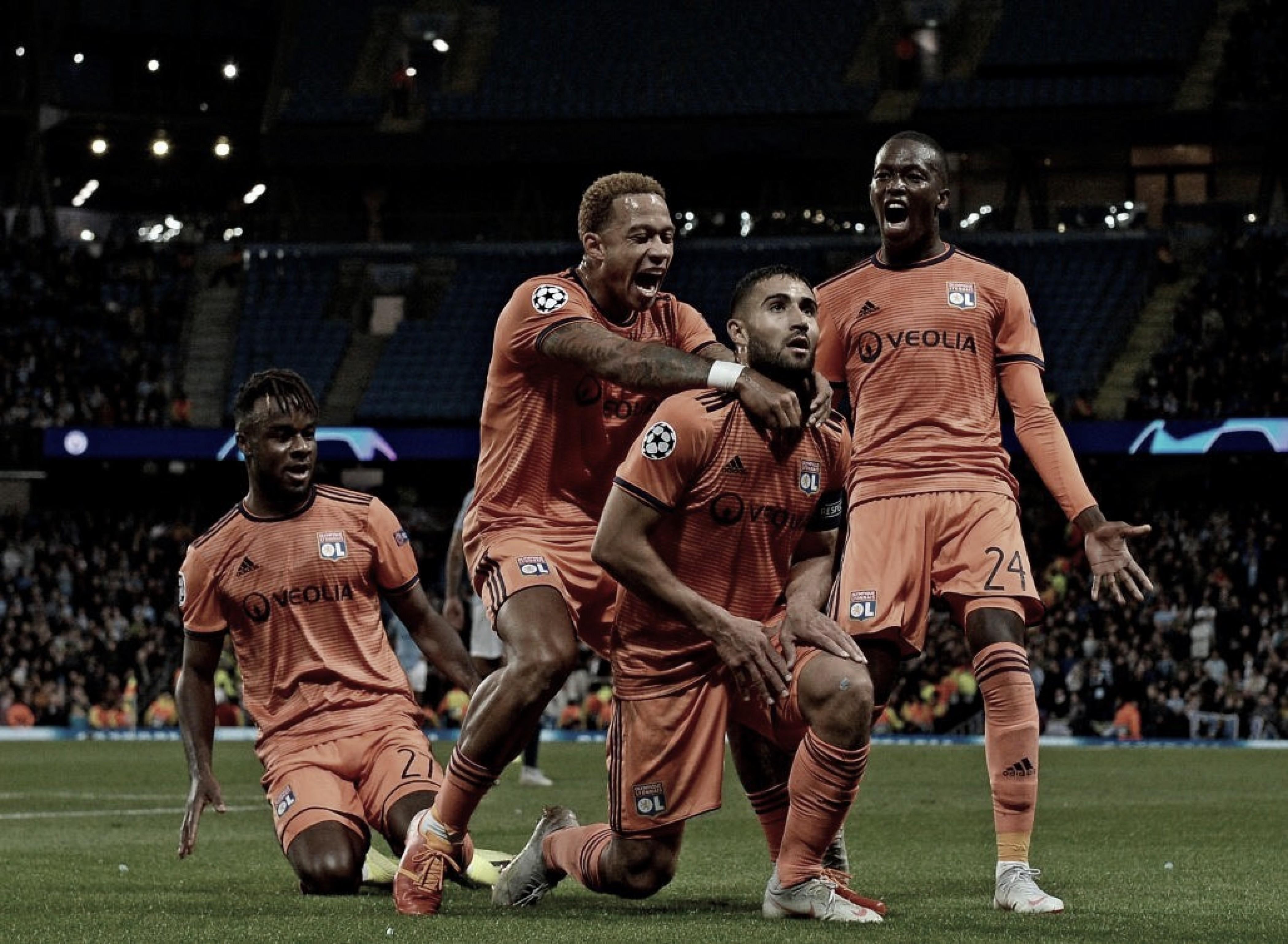 Lyon surpreende Manchester City em casa e conquista liderança temporária do Grupo F da Champions