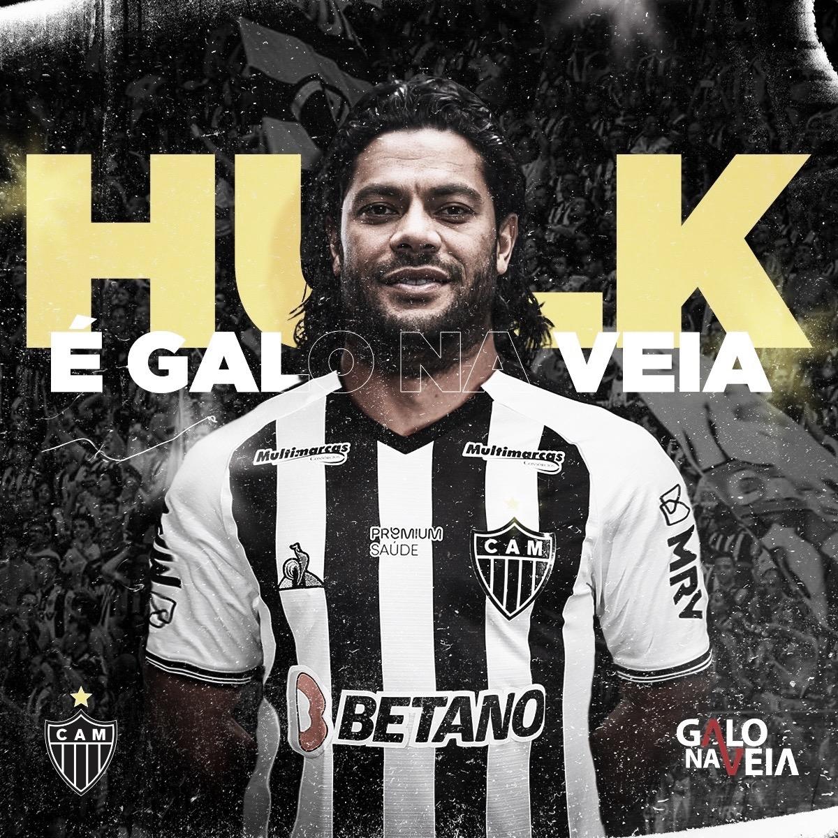 Hulk é anunciado pelo Atlético-MG em contrato até 2022