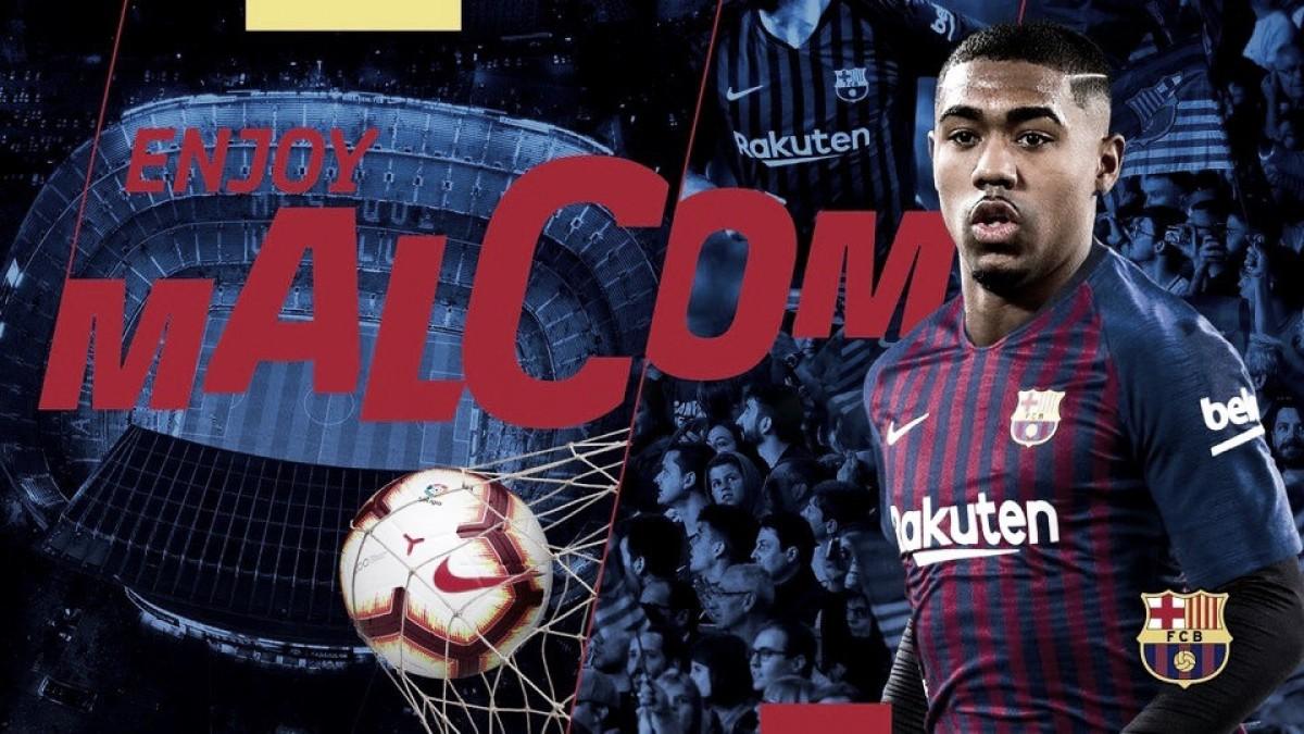 Barcelona dá chapeu na Roma e anuncia atacante Malcom, ex-Bordeaux