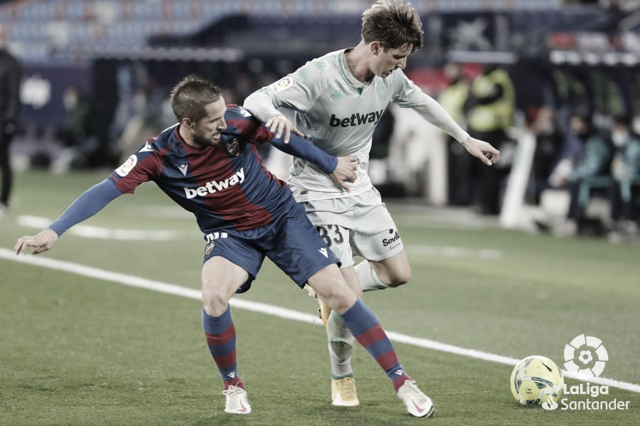 Levante vs Real Betis, puntuaciones del Real Betis 16ª jornada Liga Santander