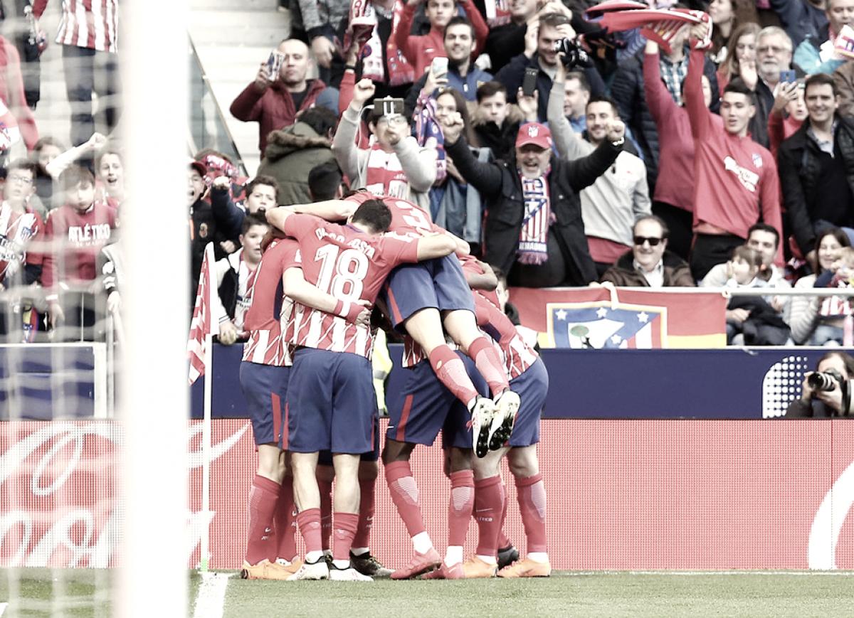 El Atlético sigue luchando por la liga