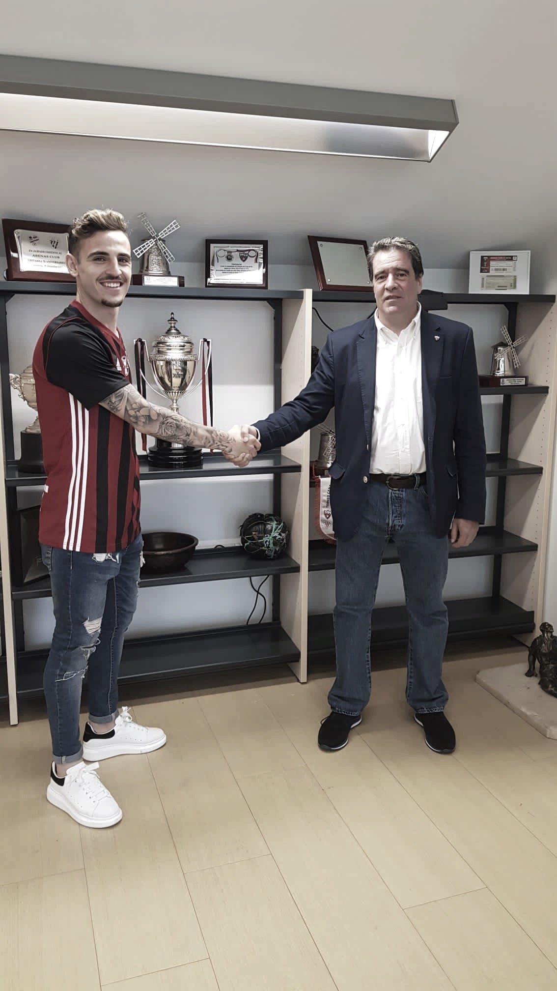Iván Alonso, nuevo jugador del Arenas Club de Getxo | Foto: @arenas_club1909 (Twitter)