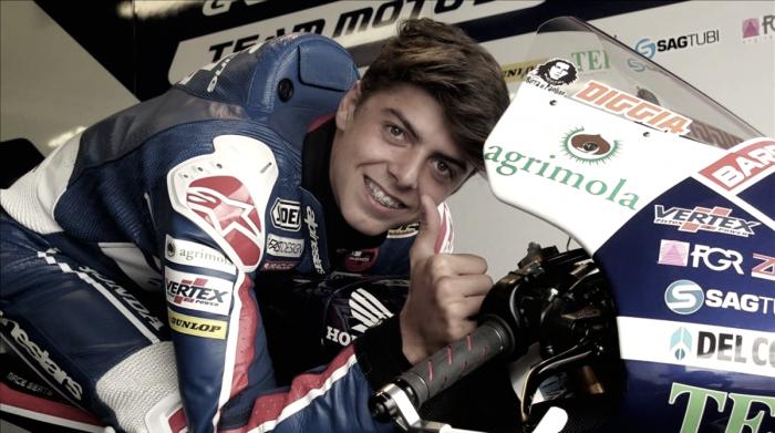 Moto 3 - Frattura della clavicola per Di Giannantonio nei test di Valencia