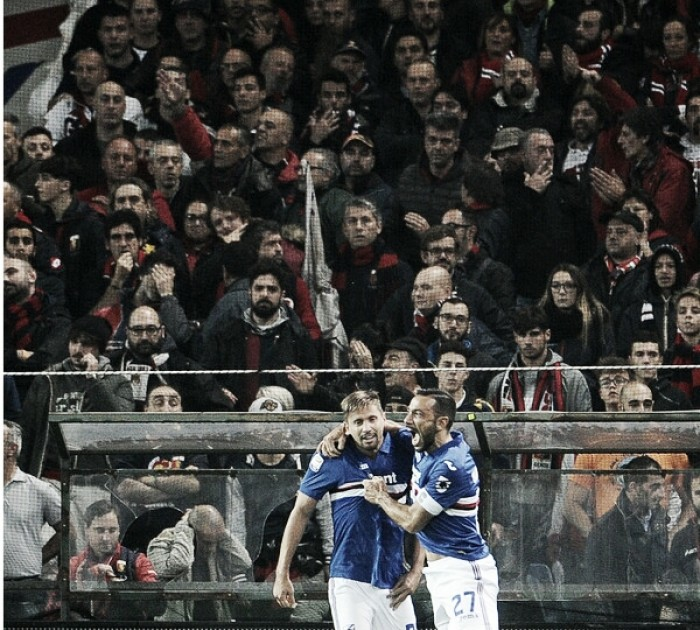 Em duelo de opostos, Sampdoria bate Genoa no Derby della Lanterna