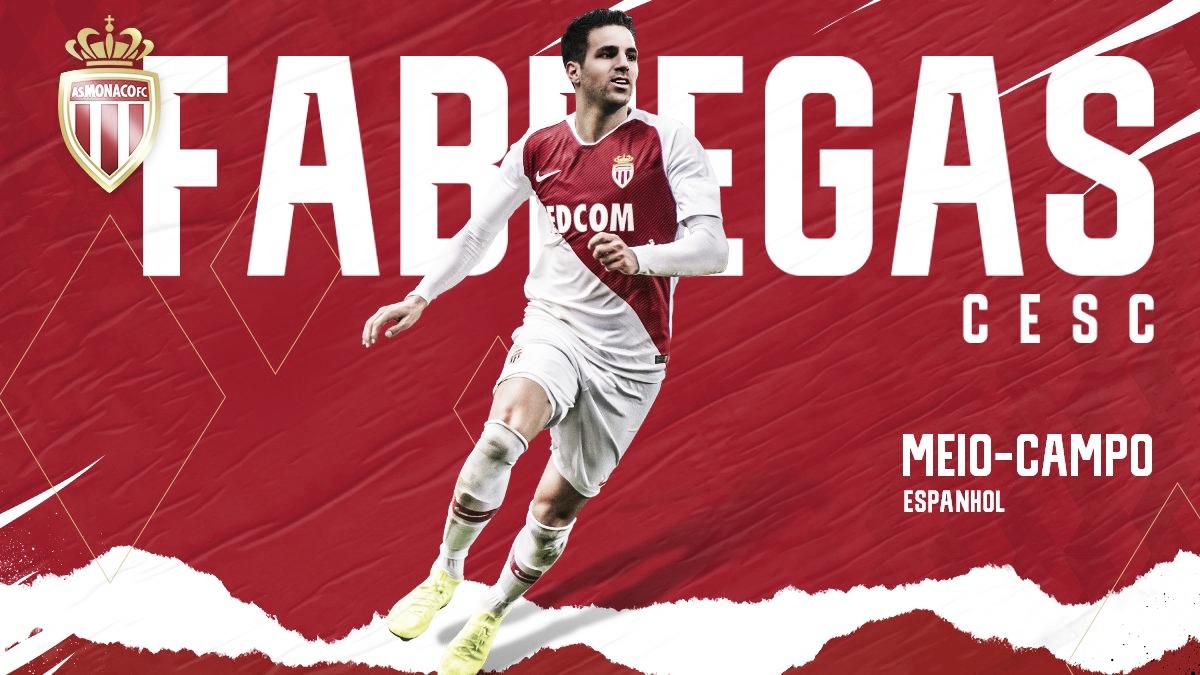 Fábregas assina com o Mônaco até junho de 2022