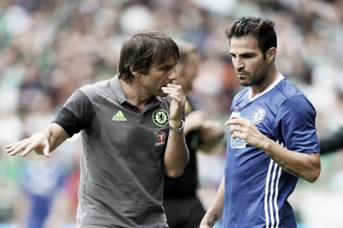 Fàbregas exalta Conte e assegura que nunca pensou em deixar o Chelsea