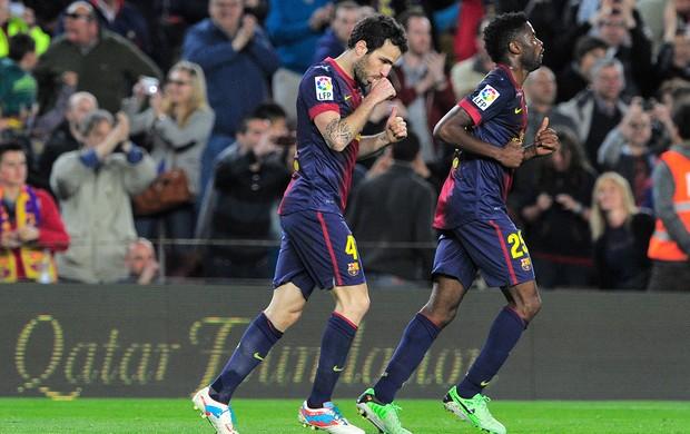 Villa perde pênalti, Fàbregas marca e Barcelona vence o Levante