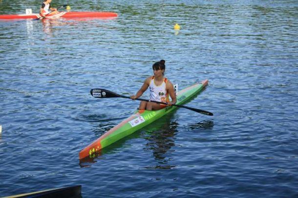 La kayakista asturiana Sara Ouzande, durante el Campeonato de Europa Sub-23. Foto: RFEP.