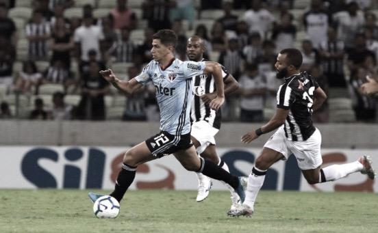 Com gol nos acréscimos do segundo tempo, Ceará arranca empate contra São Paulo e respira na tabela