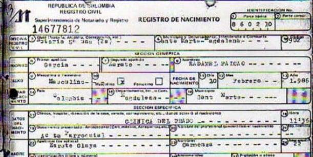 ¿Fin de la novela? Revelado registro civil de Falcao que muestra su verdadera edad