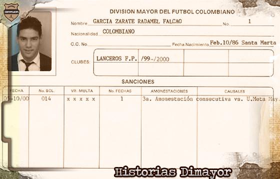 El día en que Falcao García debutó como profesional en Colombia
